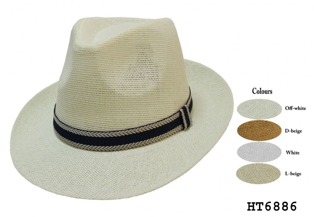 mens and ladies panama fedora hat HT31490